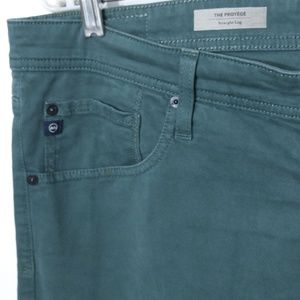 Adriano Goldschmied Jeans 36x34 Green Straight Leg